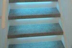 trap met led verlichting - resultaat traprenovatie in amsterdam